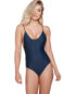 tone Fox Swim Hermosa One Piece Onyx Front