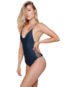 Stone Fox Swim Hermosa One Piece Onyx Side