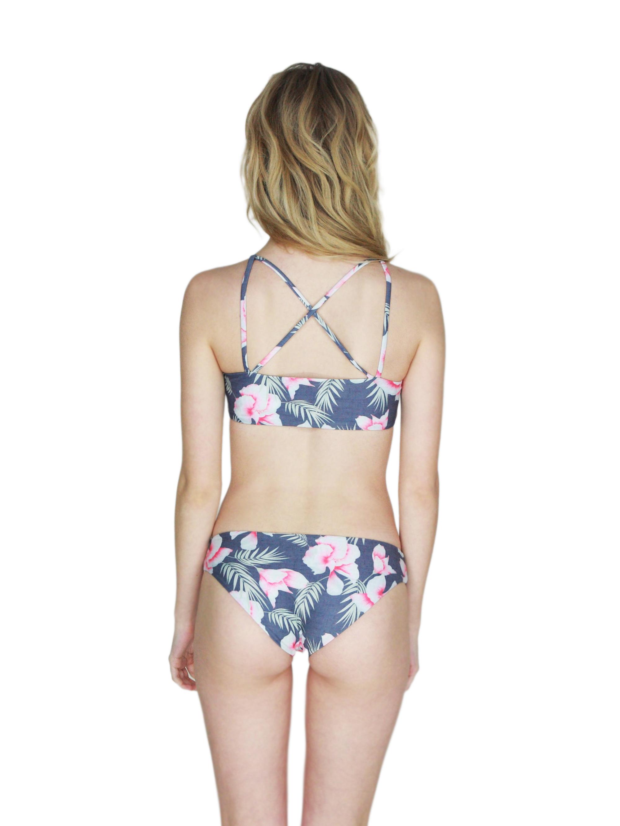d7abd144b3d4c Stone Fox Swim flor gitano Big Island Top Bottom back - Roses & Waves
