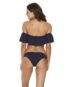 LSPACE Hey Girl Top Navy and Sandy Bottom Midnight Blue Back