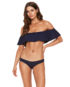 LSPACE Hey Girl Top Navy and Sandy Bottom Midnight Blue Front