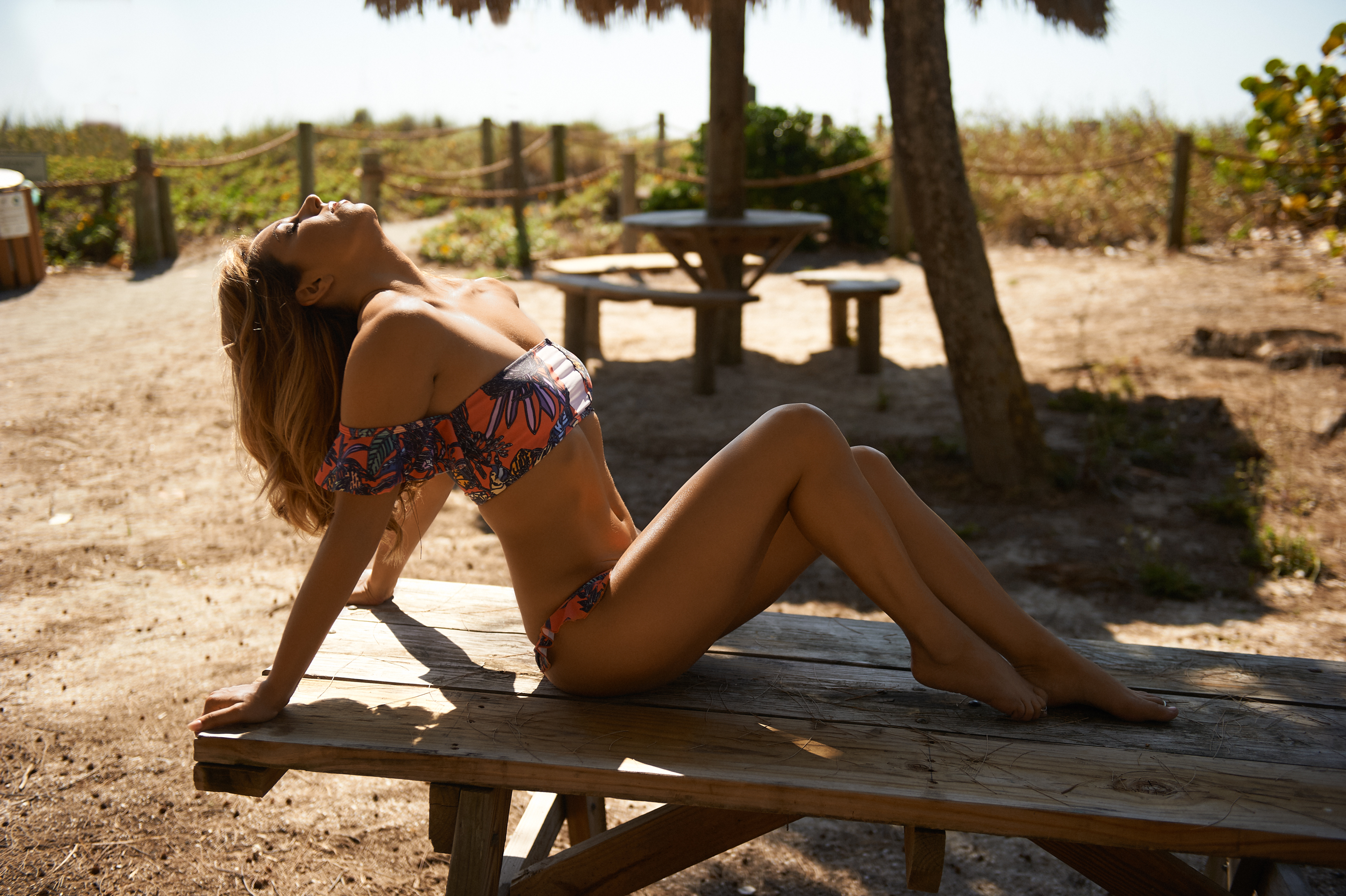Kelsey Heather Aila Blue Sunrise Floral Aquarius Top and Bangalow Bottom 2