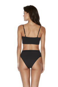 L Space Ribbed Black Rebel Top Frenchi Bottom Back