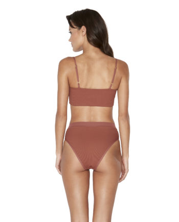 L Space Ribbed Sahara Rebel Top Frenchi Bottom Back