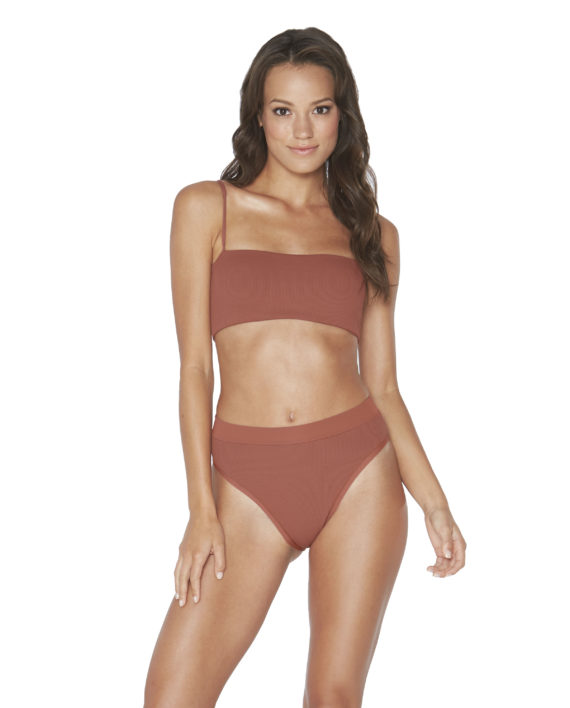 L Space Ribbed Sahara Rebel Top Frenchi Bottom Front